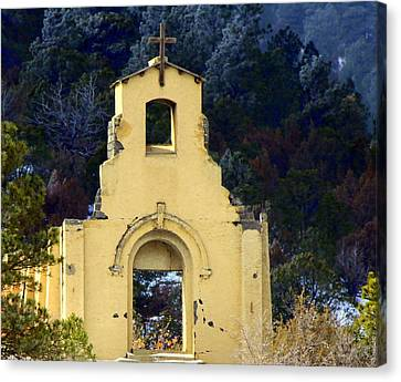 Canvas Print featuring the photograph Mountain Mission Church by Barbara Chichester
