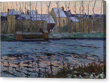 Moret. Winter Canvas Print by Maurice Cullen