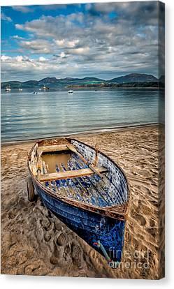 Morfa Nefyn Boat Canvas Print by Adrian Evans