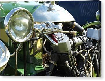 Morgan 3 Wheeler Light And Snake Horn Canvas Print by Adrian Beese