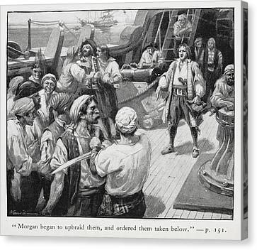Morgan Began To Upbraid Them Canvas Print