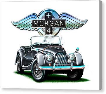 Morgan Plus 4 Blkgray Canvas Print by David Kyte