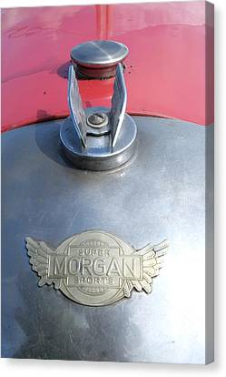 Morgan Super Sport Badge Canvas Print by Adrian Beese