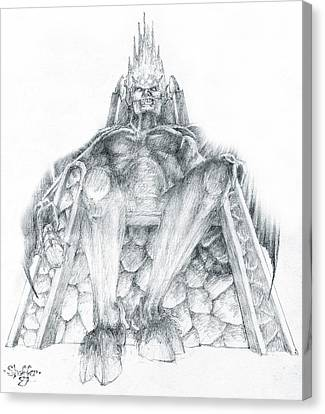Canvas Print featuring the drawing Morgoth Bauglir by Curtiss Shaffer