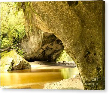 Moria Gate Arch In Opara Basin On South Island Of Nz Canvas Print by Stephan Pietzko