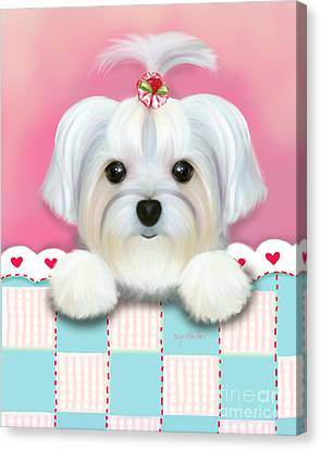 Morkie Shelly Canvas Print by Catia Cho