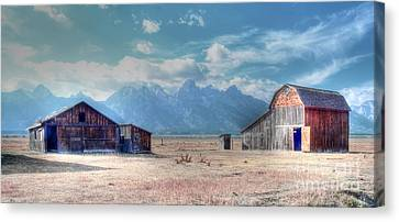 Morman Row Canvas Print