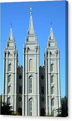 Morman Temple Canvas Print by Kathleen Struckle