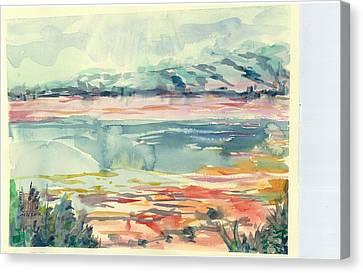 Mormon Lake Canvas Print by Marilyn Miller