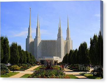 Mormon Temple Dc Canvas Print