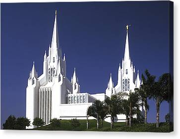 Paul Faust Canvas Print - Mormon Temple by Paul W Faust -  Impressions of Light