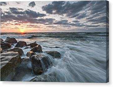 Salt Water Canvas Print - Morning All The Time by Jon Glaser