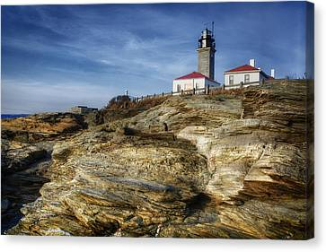 Register Canvas Print - Morning At Beavertail Lighthouse by Joan Carroll