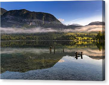Morning At Lake Bohinj Canvas Print