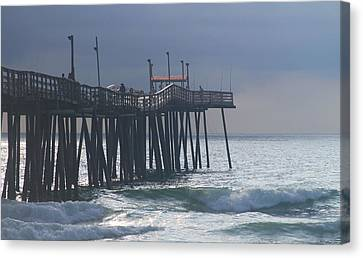 Morning At Rodanthe Pier 2 Canvas Print