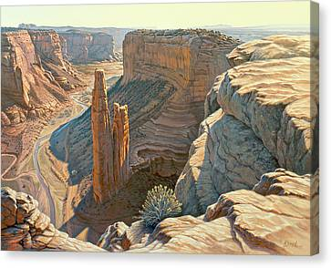 Canyon Country Canvas Print - Morning At Spider Rock by Paul Krapf