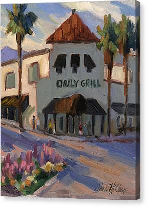 Morning At The Daily Grill Canvas Print by Diane McClary