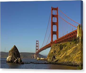 Sausalito Canvas Print - Morning At The Golden Gate by Bryant Coffey
