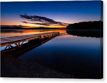 Morning At The Lake Canvas Print by Tommy Brison