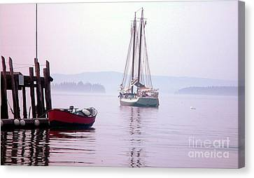 Morning At The Wharf Canvas Print by Christopher Mace