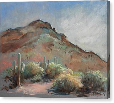 Morning At Usery Mountain Park Canvas Print by Peggy Wrobleski