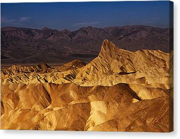 Morning At Zabriskie Point Canvas Print by Andrew Soundarajan