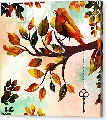 Morning Bird Canvas Print by Lilia D
