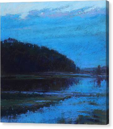 Morning Blues Canvas Print by Ed Chesnovitch