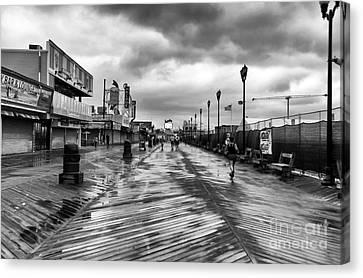 Morning Boardwalk Mono Canvas Print