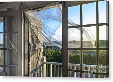 Morning Breeze At The Beach House Canvas Print