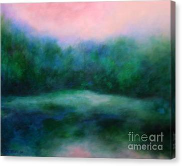 Canvas Print featuring the painting Morning Calm by Alison Caltrider