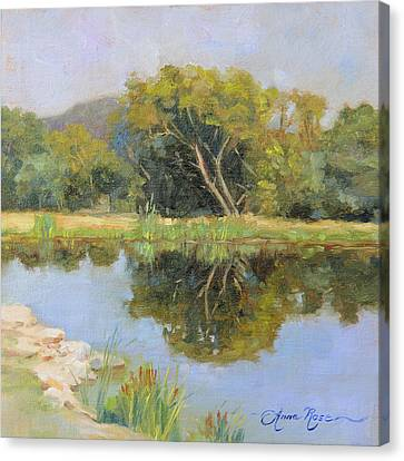 Morning Calm In Texas Summer Canvas Print by Anna Rose Bain