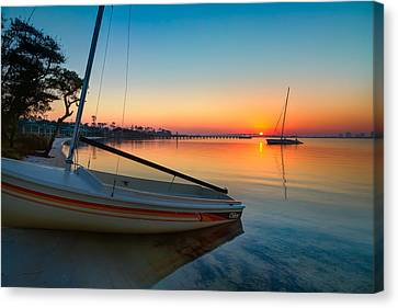 Canvas Print featuring the photograph Morning Calm by Tim Stanley