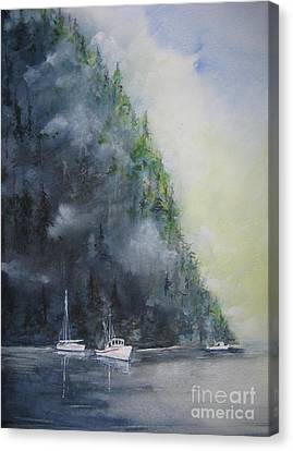 Morning Cast Off Canvas Print by Ronald Tseng