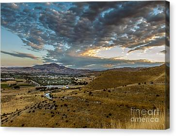 Morning Clouds Over The Valley Canvas Print