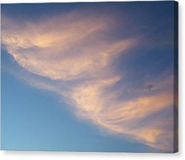 Canvas Print featuring the photograph Morning Clouds by Ron Roberts