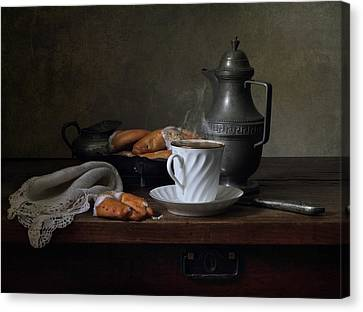 Morning Coffee  Canvas Print by Helen Tatulyan