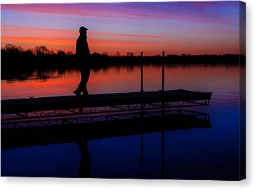 Canvas Print featuring the photograph Morning Color Forest Lake Mn by RC Pics