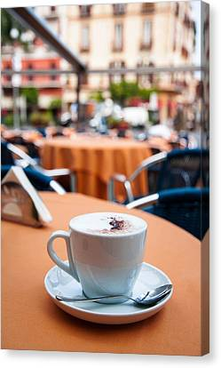 Capuccino Canvas Print - Morning Cup Of Coffee By Zina Zinchik by Zina Zinchik