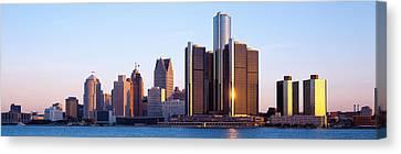Morning, Detroit, Michigan, Usa Canvas Print