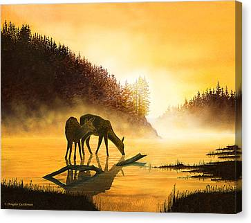 Morning Drink Canvas Print