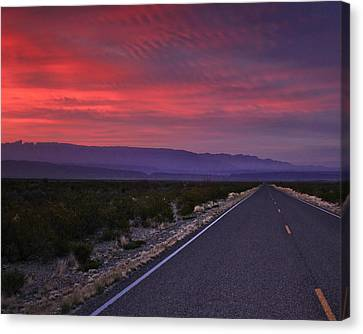Morning Drive Canvas Print