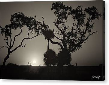 Morning Eclipse In Sepia Canvas Print by Phill Doherty