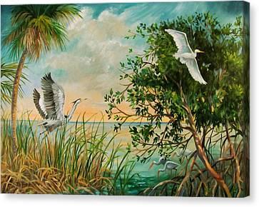 Morning Flight Canvas Print by Dianna  Willman