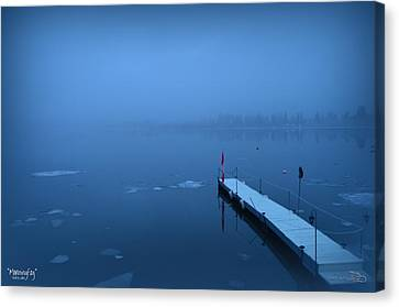 Morning Fog 002 - Skaha Lake 03-06-2014 Canvas Print by Guy Hoffman