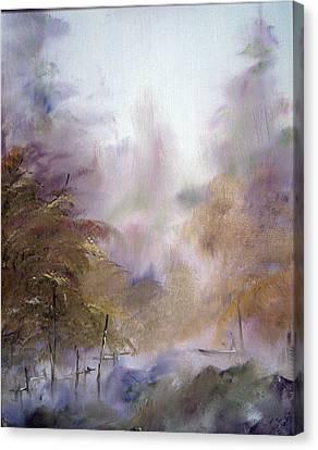 Morning Fog Canvas Print by Alena Samsonov