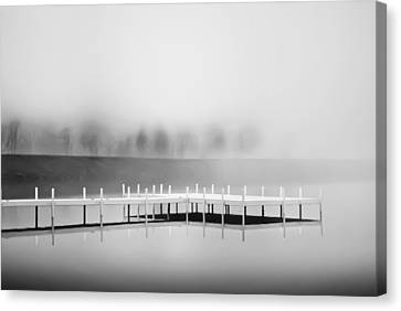 Canvas Print featuring the photograph Morning Fog Burn-off by Greg Jackson