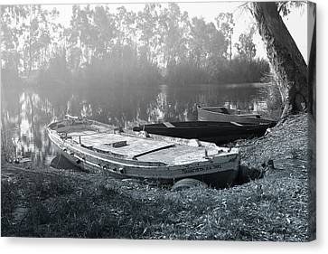 Morning Fog On The River Canvas Print