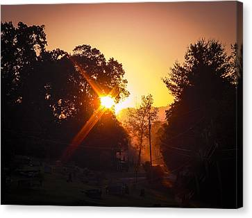 Morning Glare Canvas Print by Robert J Andler
