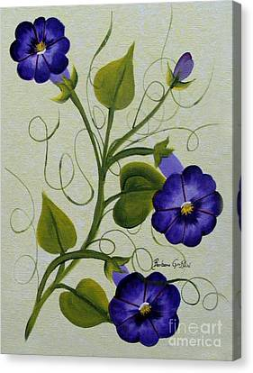 Morning Glories Canvas Print by Barbara Griffin